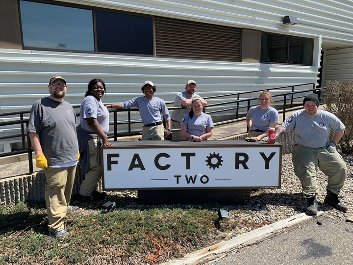 Earth Day Cleanup at Factory Two